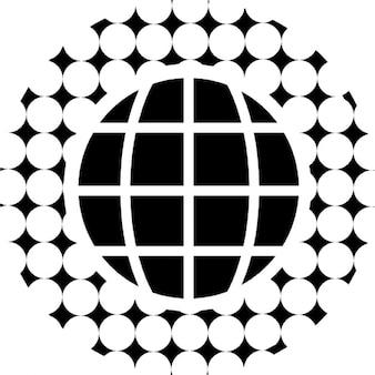 Siatka z okrągłym ziemia wokół wzorca