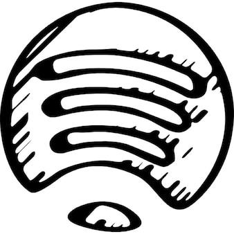 Spotify zarysowane logo wariant