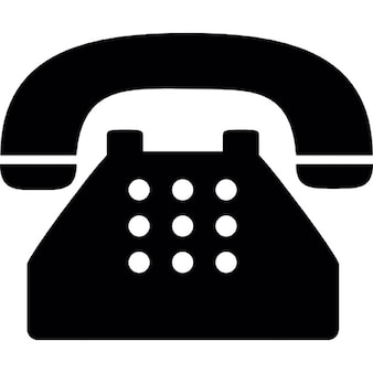 Stary typowy telefon