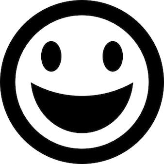 Szczęśliwy emotikon