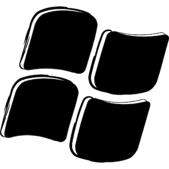 Wariant okna zarysowane logo