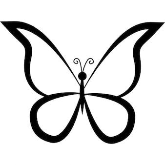 Zarys projektu motyl Widok z góry
