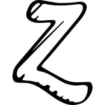 Zerply zarysowane logo wariant