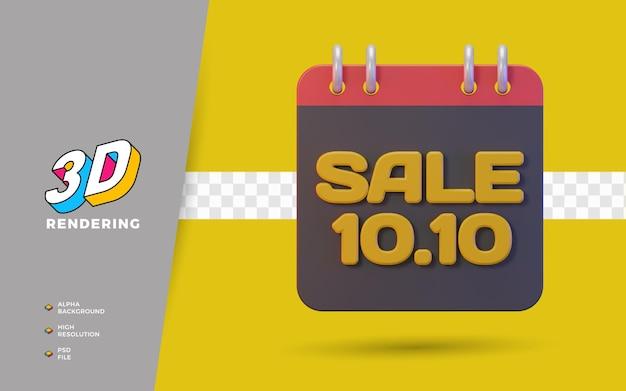 10.10 dzień zakupów rabat promocja sprzedaż 3d render obiektu