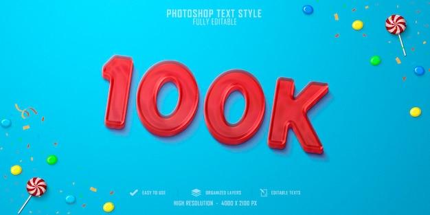 100k projekt szablonu efektu stylu tekstu