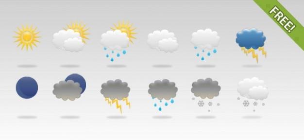 12 darmowe ikony pogody