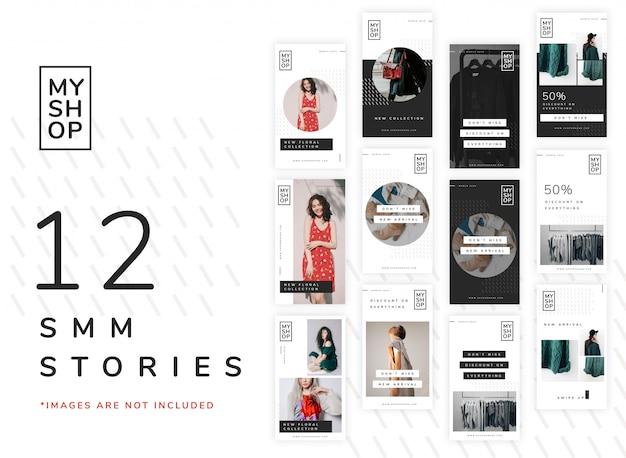 12 szablonów historii na instagramie dla sklepów z modą