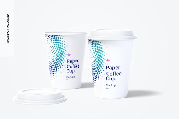 12 uncji papierowych filiżanek do kawy mockup 03