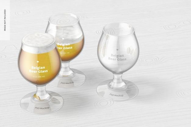13 uncji belgijskich szklanek do piwa makieta