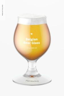 13 uncji belgijskiego szkła do piwa makieta, widok z przodu