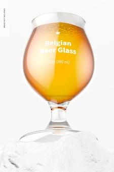 13 uncji belgijskiego szkła do piwa makieta