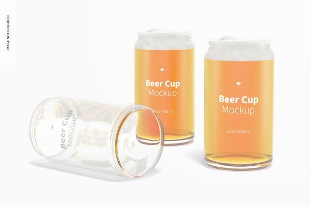 16 oz zestaw szklanych kubków do piwa makieta
