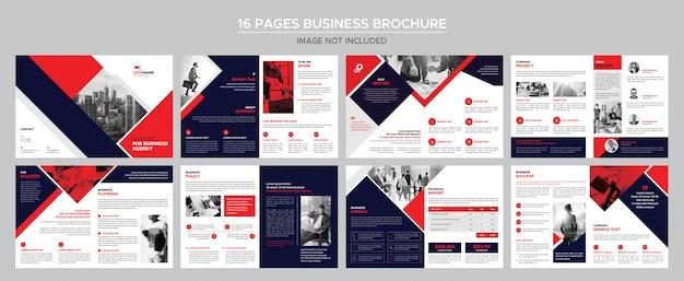 16 stron broszury biznesowej