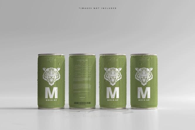 180ml mini soda lub puszka piwa z makietami kropli wody