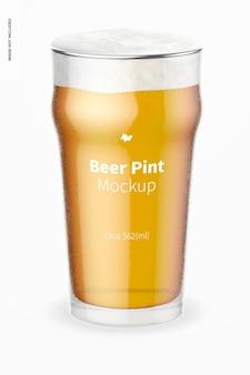 19 uncji piwa nonic pint glass makieta, widok z przodu