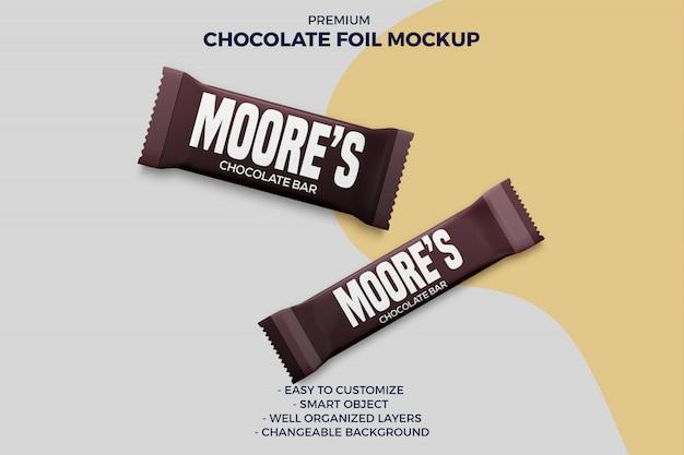 2 różne makiety opakowań batoników czekoladowych