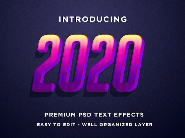 2020 3d efekty tekstowe szablony programu photoshop