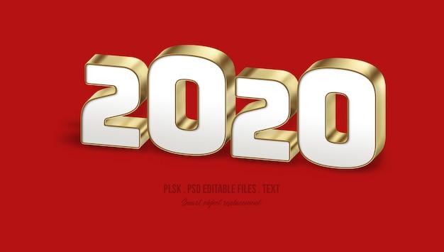 2020 efekt stylu tekstu 3d