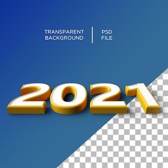 2021 rok numer 3d