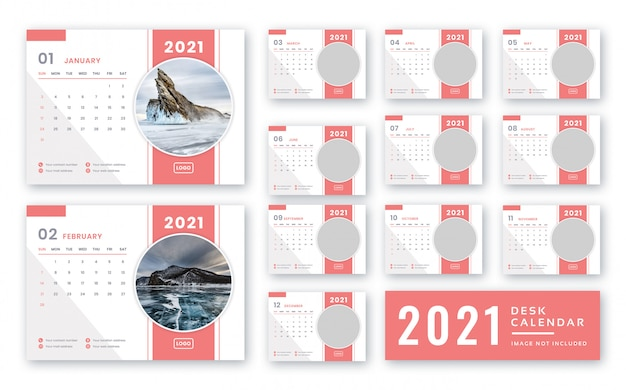 2021 szablon kalendarza biurkowego