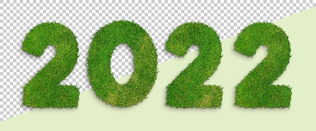 2022 zielona trawa numer przezroczyste tło