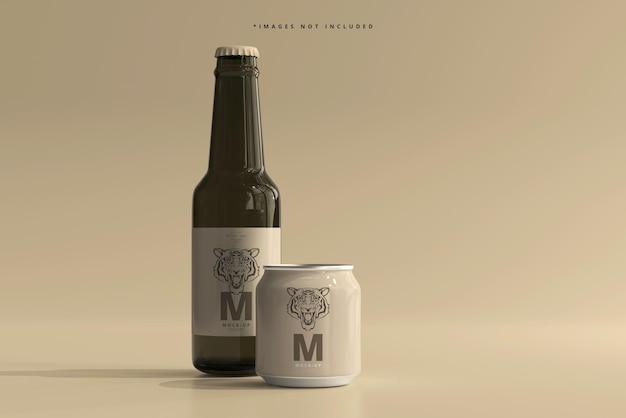 250ml stubby soda lub piwo puszka i makieta butelki