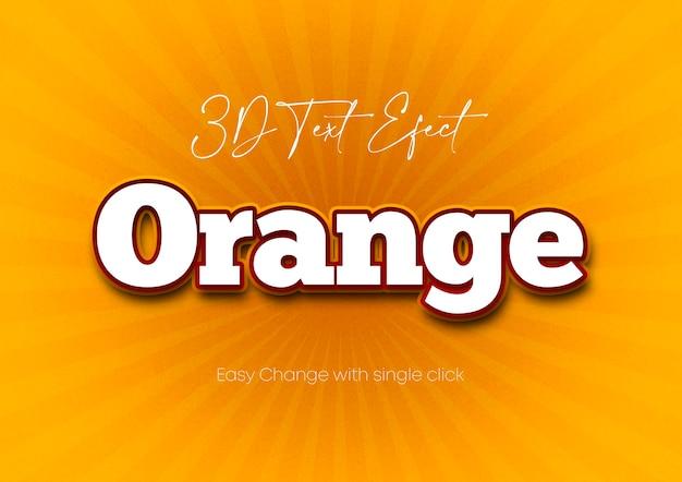32 szablon efektu 3d w kolorze pomarańczowym