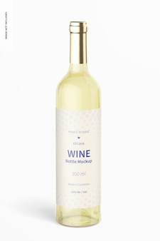 350 ml makieta butelki wina