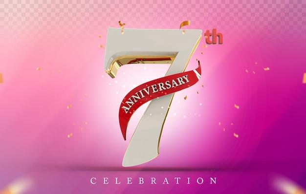 3d 7 rocznica w złotym stylu