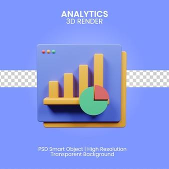 3d analityka ilustracja na białym tle