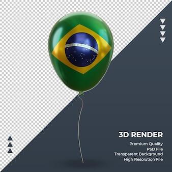 3d balloon flaga brazylii realistyczna folia renderująca widok z przodu