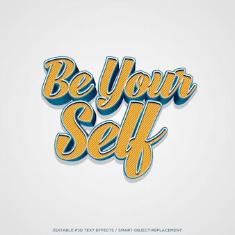 3d be your self-editable effect text