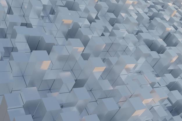 3d białe geometryczne kwadratowe tło