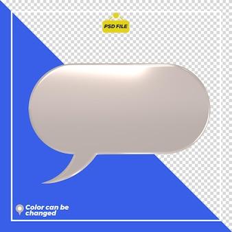 3d błyszczący słowo bańka ikona renderowania izolowana