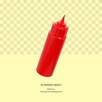 3d butelka sosu ilustracyjny obiekt renderowany premium psd