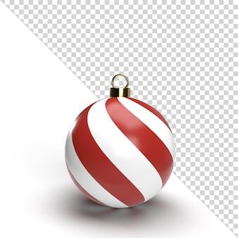 3d Christmas Ball Na Białym Tle Renderowania Premium Psd
