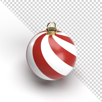 3d christmas ball na białym tle renderowania
