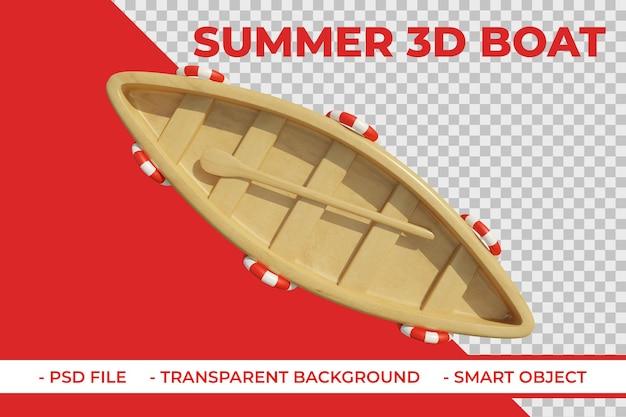 3d drewniany element lata łodzi boat