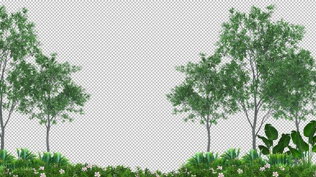 3d drzewo na białym tle