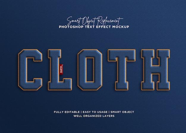 3d efekt stylu denim tkaniny szablon tekst efekt