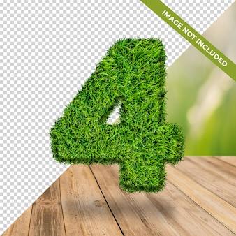 3d efekt trawy numer 4 z izolowanym tłem