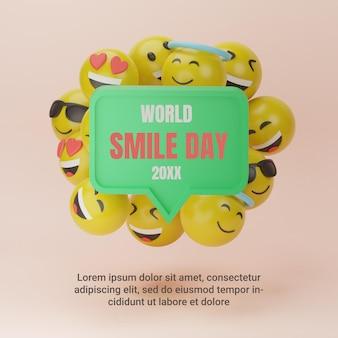 3d emotikon światowy dzień uśmiechu post na instagramie