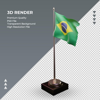 3d flaga brazylii renderowania prawy widok