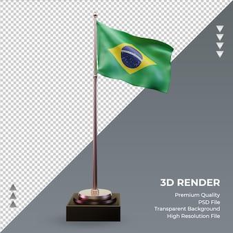 3d Flaga Brazylii Renderowania Widok Z Przodu Premium Psd