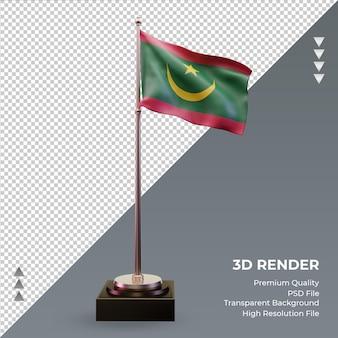 3d flaga mauretanii renderuje prawy widok
