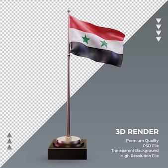 3d flaga syrii renderująca widok z przodu