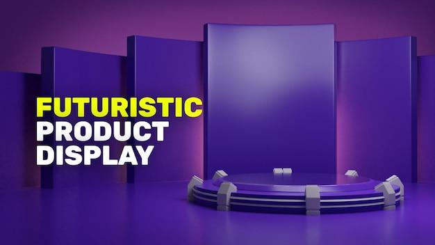 3d futurystyczny wyświetlacz produktu na podium