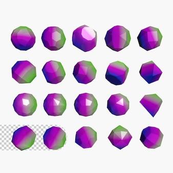 3d geometryczne kształty psd premium