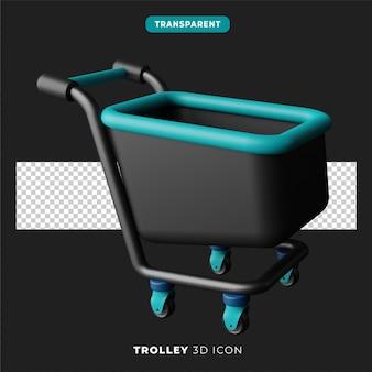 3d ikona ciemnej wersji wózka