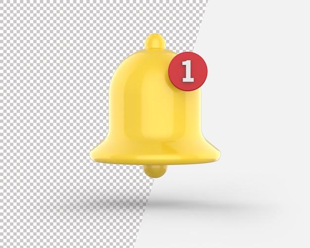 3d ikona dzwonka powiadomienia